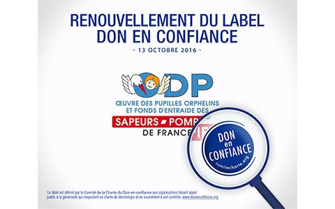 Renouvellement label don en confiance - ODP