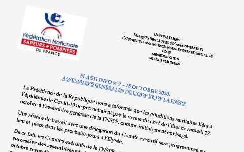 FLASH INFO N°9 – ASSEMBLÉES GENERALES DE L'ODP ET DE LA FNSPF