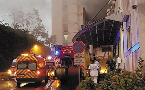 Le CHU totalement évacué après un incendie