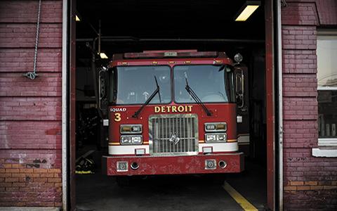 Avec les firefighters de Détroit