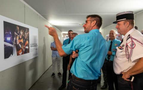 VIGNETTE - Exposition photo sapeurs-pompiers en gare de Bourg-en-Bresse