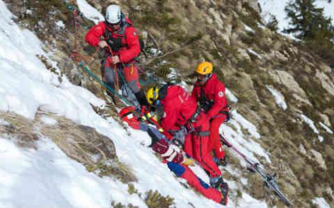 Intervention des secours en montagne