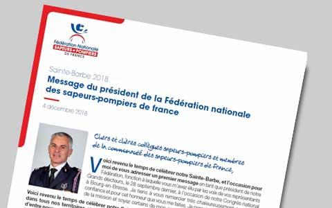 VIGNETTE - Message de Sainte Barbe président FNSPF 2018