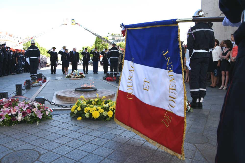 Illustration Journée nationale des sapeurs-pompiers - Cérémonie Arc de Triomphe
