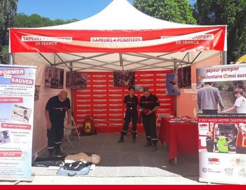 Tour de France 2018 : retrouvez les sapeurs-pompiers dans plusieurs villes étapes
