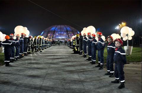 Pompiers Téléthon 2014