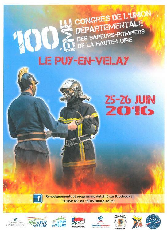 Affiche congrès pompiers Haute-Loire