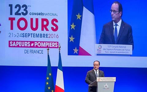 Discours François Hollande - Congrès des sapeurs-pompiers 2016 à Tours