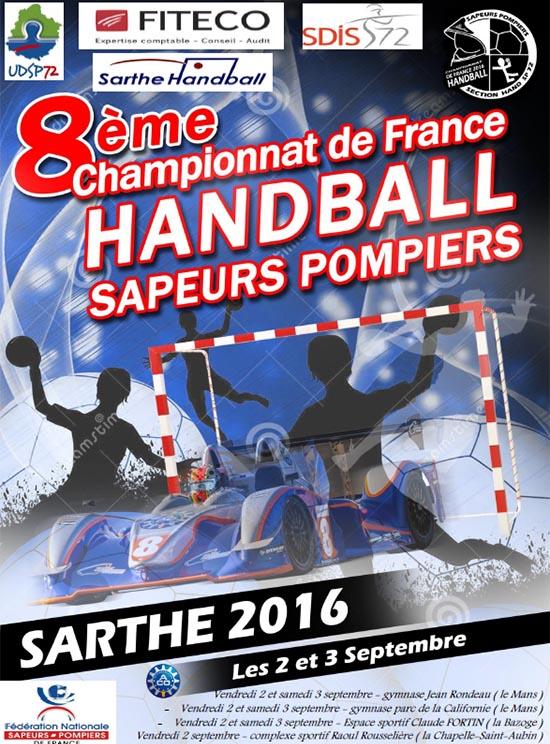 championnat sapeurs-pompiers Handball 2016