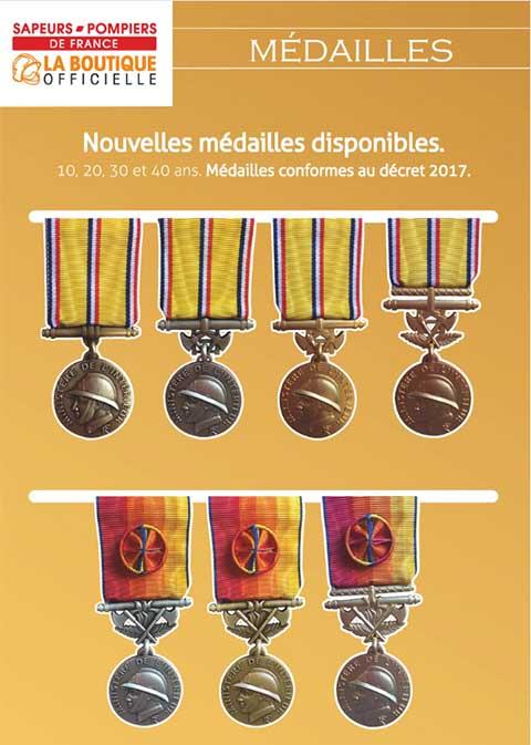 Médailles sapeurs-pompiers