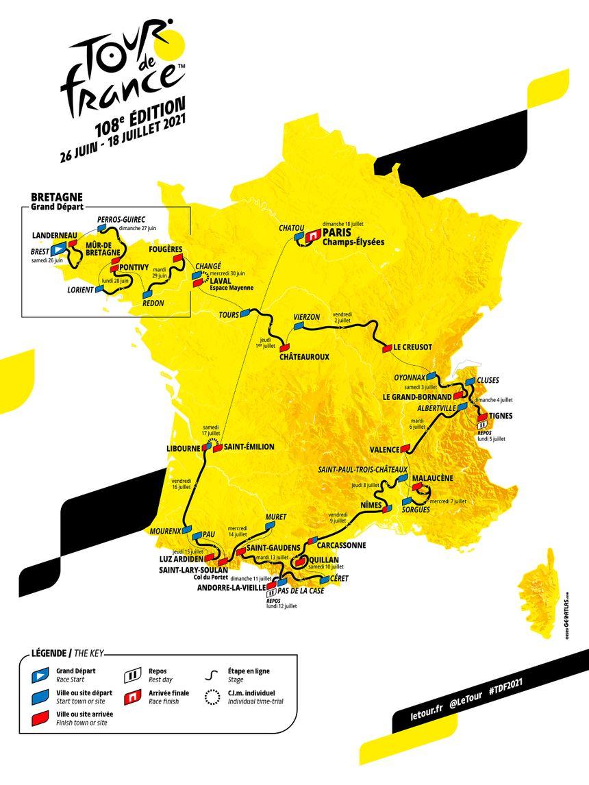 Carte TDF 2020