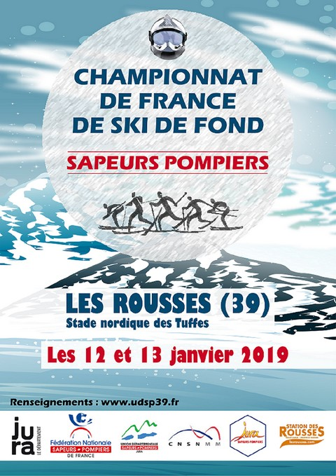 Ski de fond : championnat de France 2019 des sapeurs-pompiers