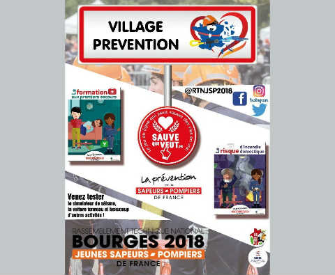 Extrait affiche village prévention RTN JSP 2018