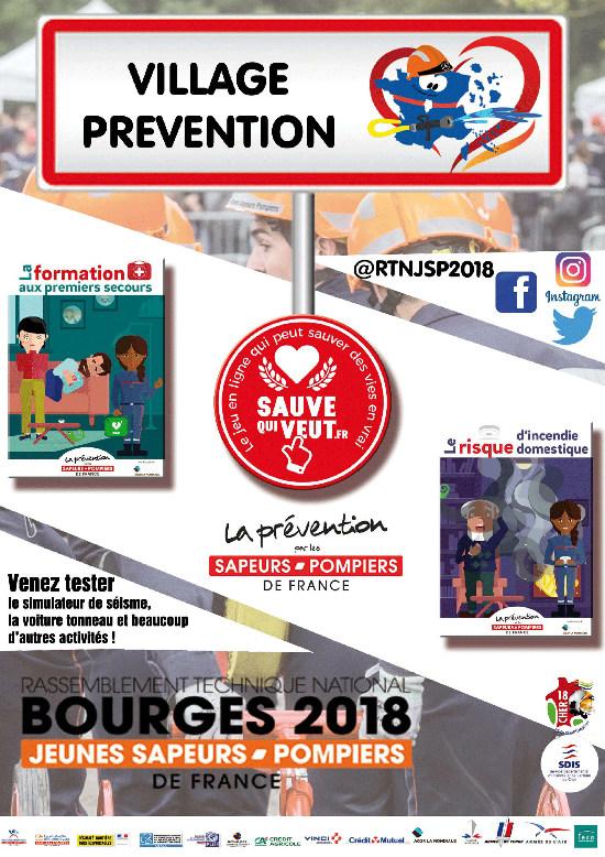 Affiche village prévention