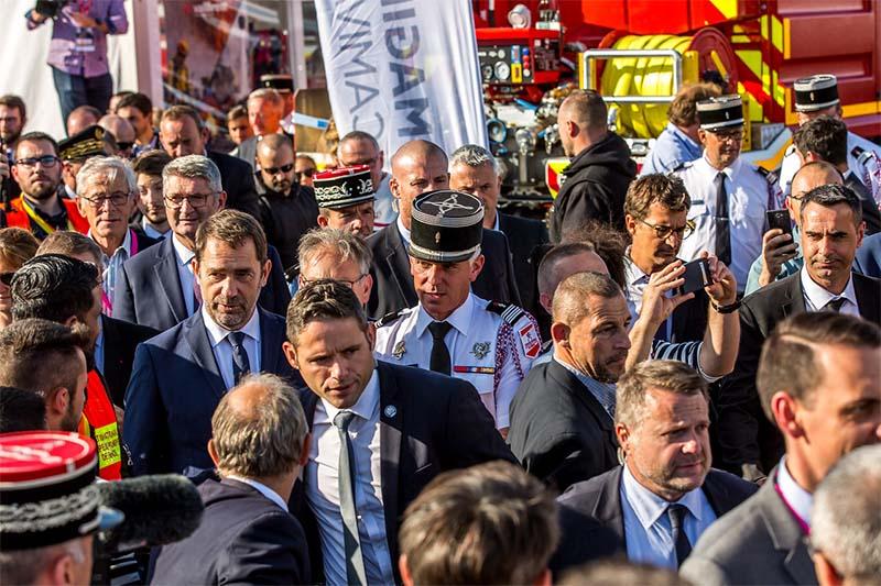 Grégory Allione et Christophe Castaner - congrès national des sapeurs-pompiers de France