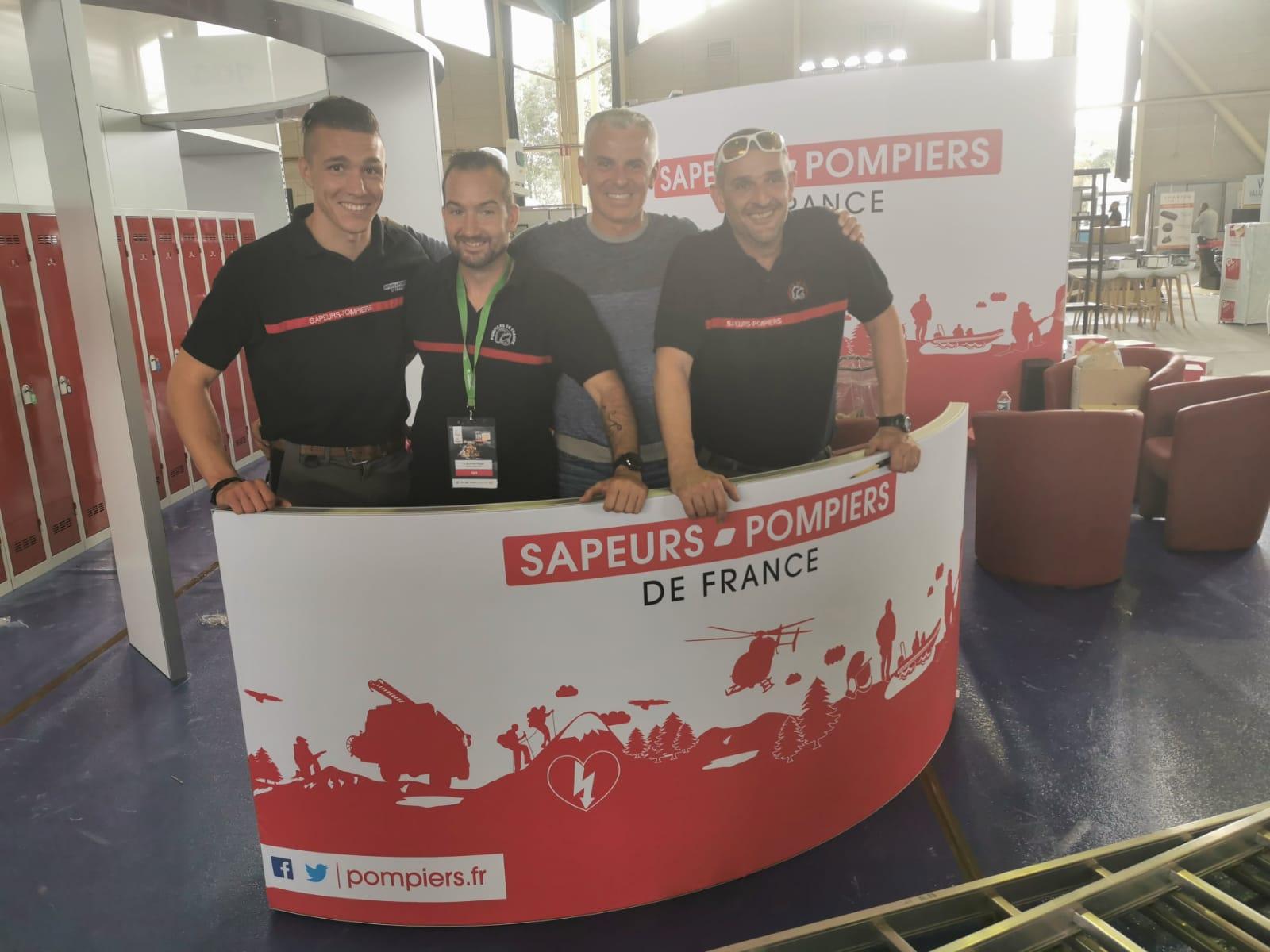 Grégory Allione - stand sapeurs-pompiers de France