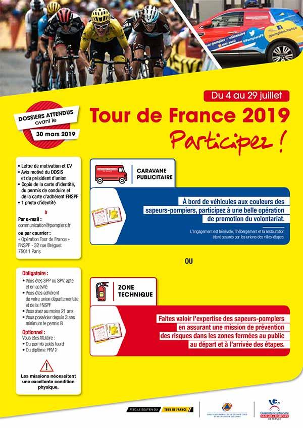 Appel à candidatures - Tour de France 2019