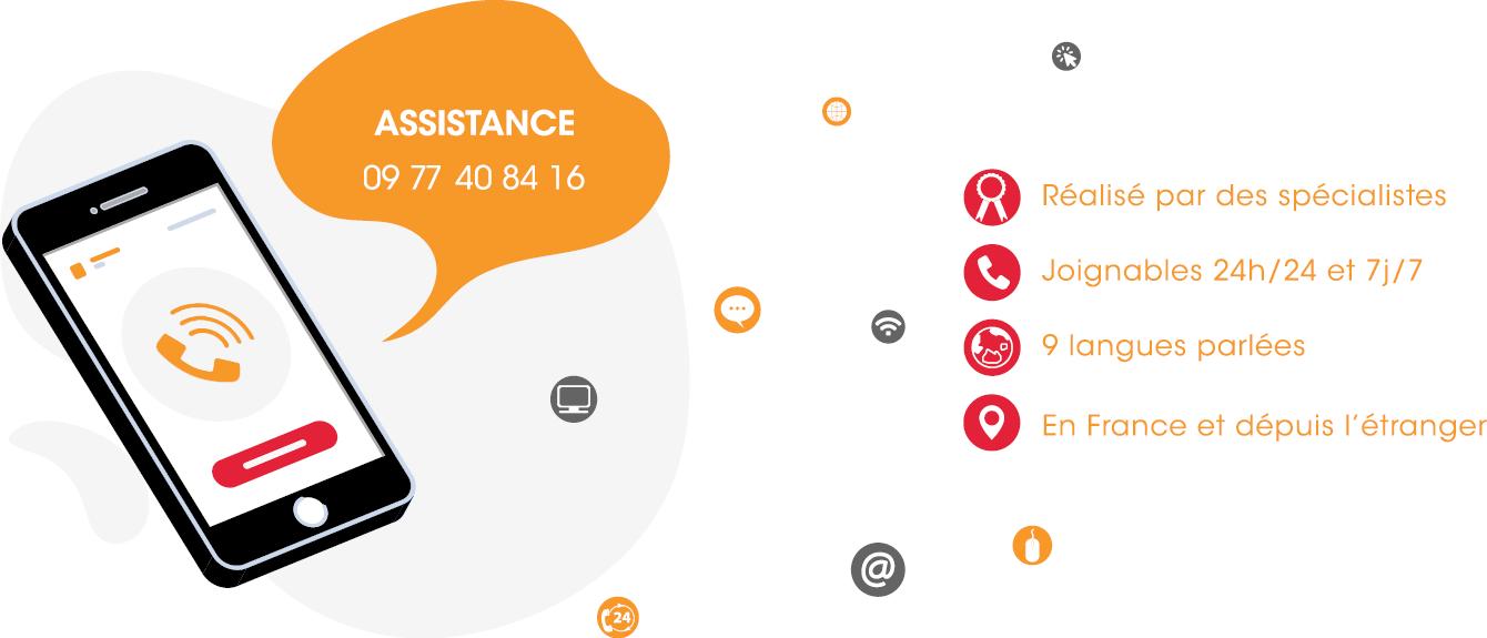Assistance prévoyance : 09 77 40 84 16