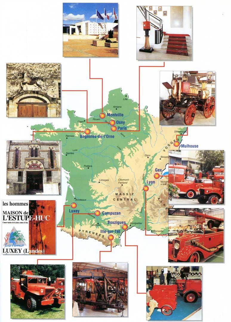 Carte des musées
