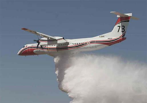 """Avion bombardier d'eau """"Dash"""" de la Sécurité civile – © Sécurité civile"""