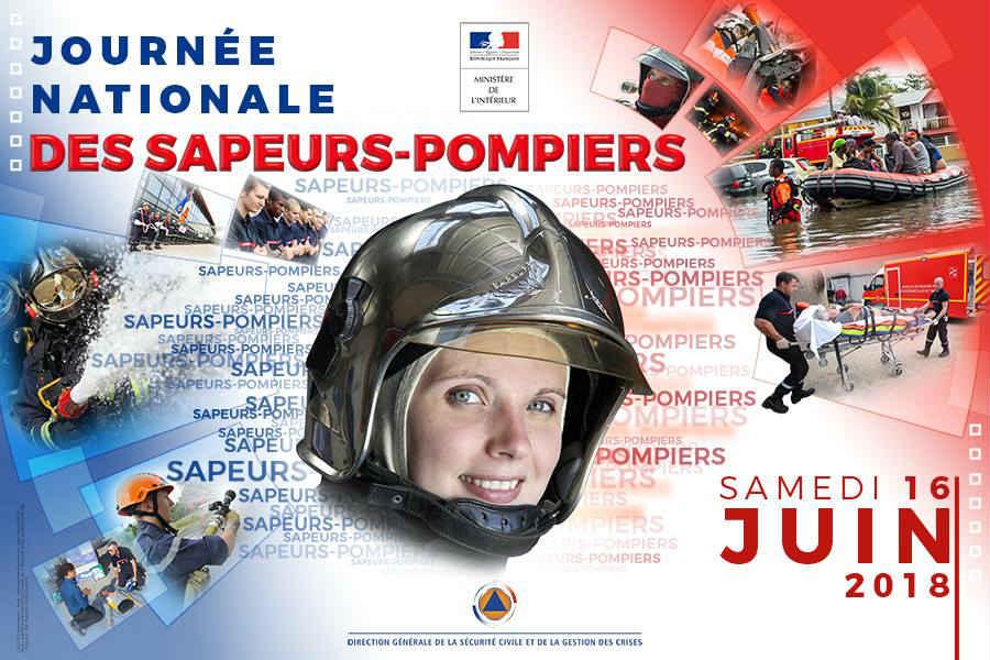 Journée nationale des sapeurs-pompiers 2018 (affiche officielle)