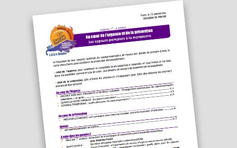Congrès des sapeurs-pompiers du 25 septembre 2014