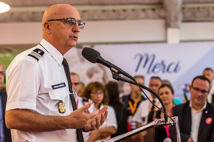 Eric Faure, président de la Fédération nationale des sapeurs-pompiers de France (FNSPF)