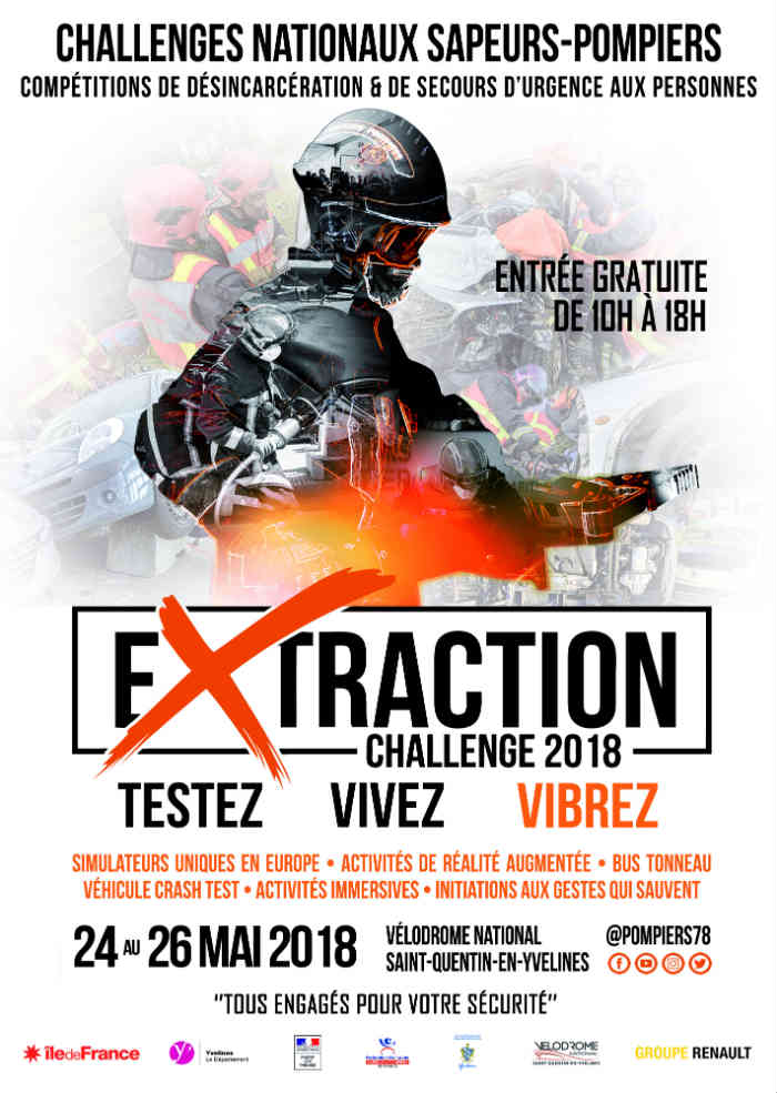Affiche Challenge national sapeurs-pompiers Extraction 2018