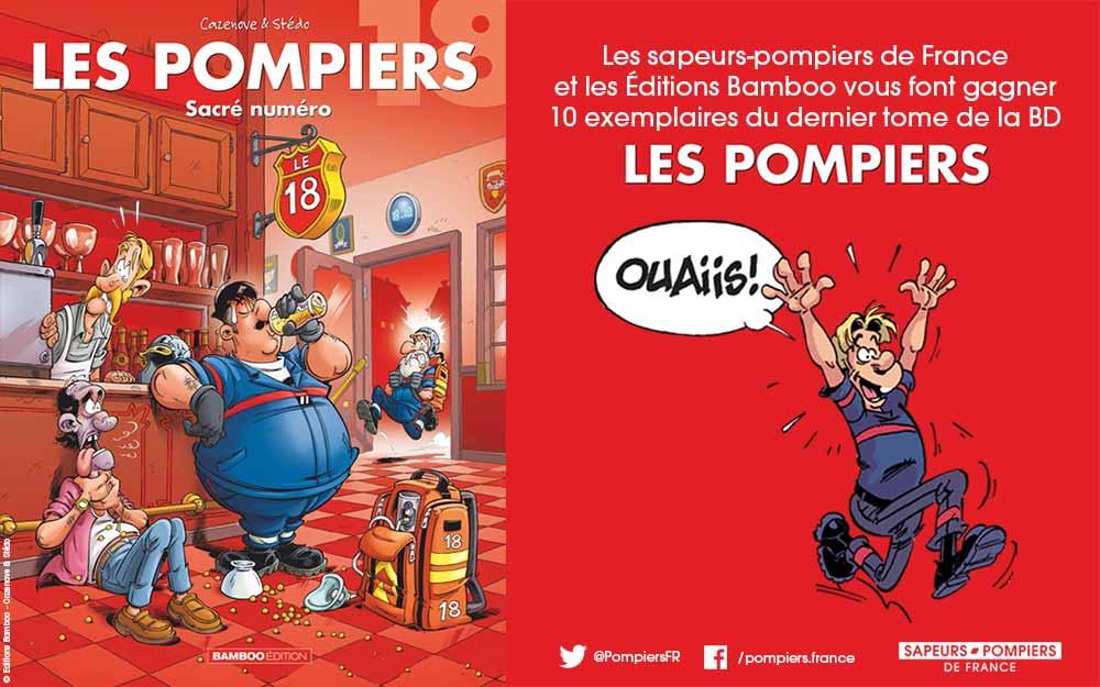Illustration - Jeu concours BD Les Pompiers - Bamboo