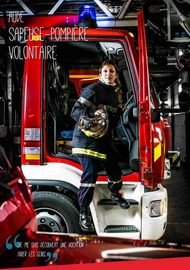 Affiche sapeuse-pompière