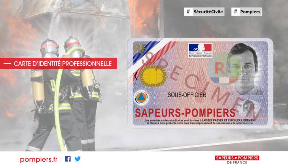 Illustration - Carte d'identité professionnelle des sapeurs-pompiers