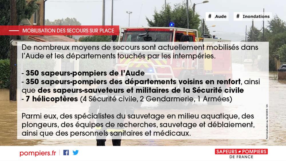 Visuel mobilisation secours Inondations Aude