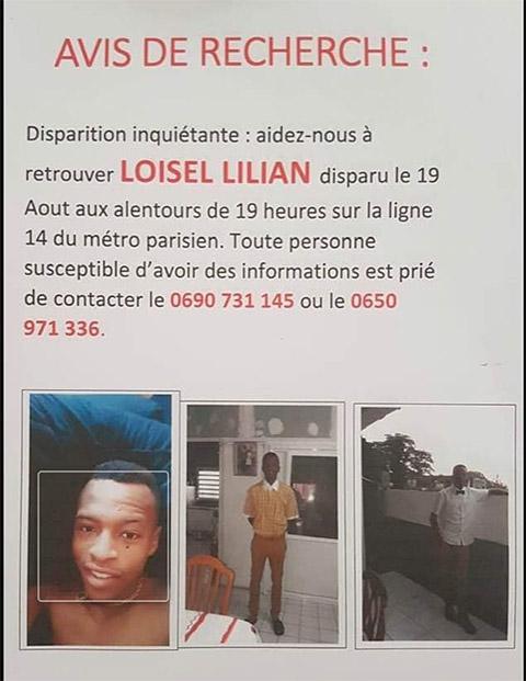Avis de recherche : Lilian Loisel
