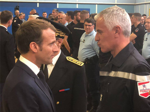 Emmanuel Macron et Grégory Allione