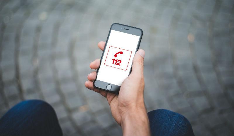 Smartphone 112 - Numéro européen d'appel d'urgence