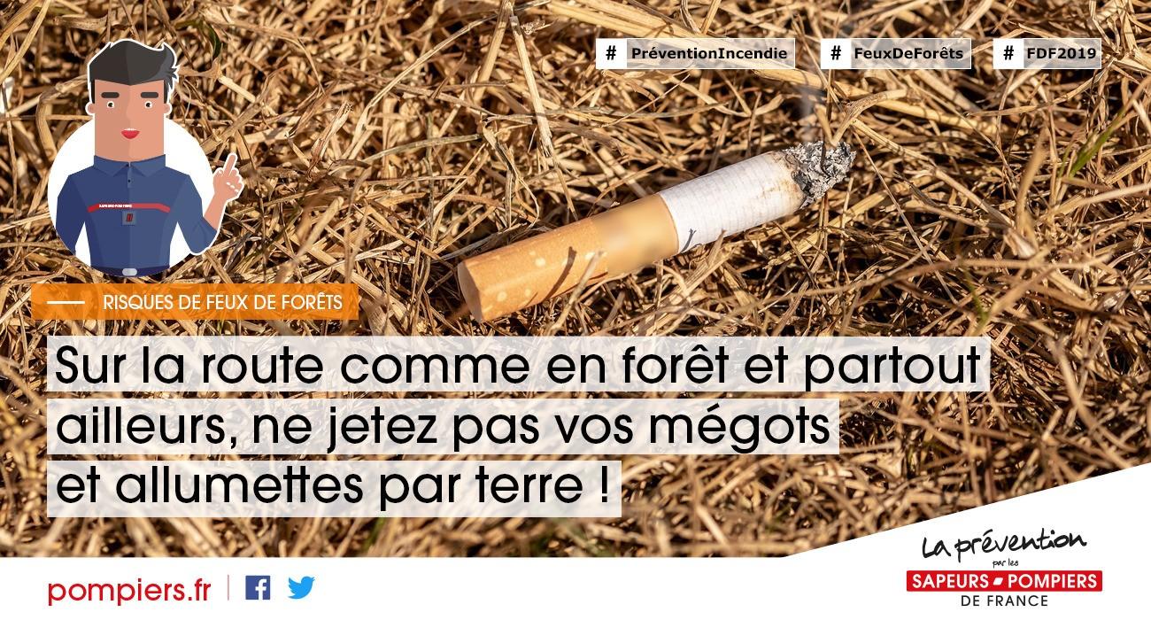 Prévention feux de forêts - mégot de cigarette