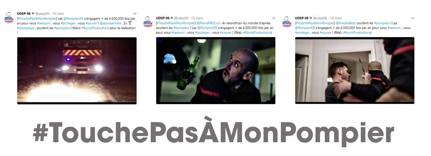 TouchePasAMonPompier - Assemblage tweets vidéos UDSP06