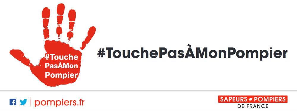 Visuel campagne TouchePasAMonPompier