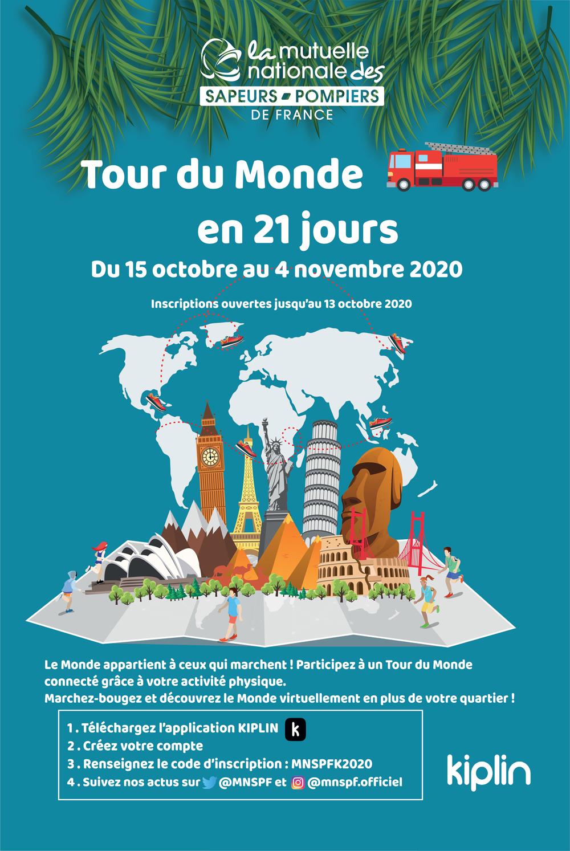 le tour du monde pompier en 21 jours
