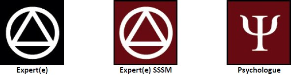 Experts : expert / experte, expert SSSM / experte SSSM, psychologue
