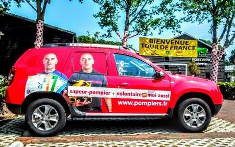 les sapeurs-pompiers sur le Tour de France