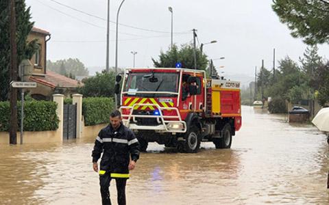 Communiqué de presse - Inondations dans l'Aude : les sapeurs-pompiers mobilisés