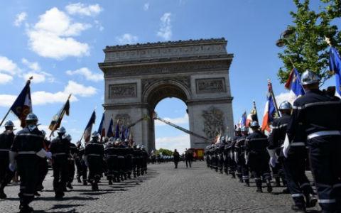 Arc de Triomphe, journée nationale des sapeurs-pompiers