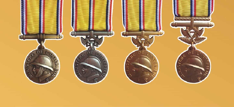 Nouvelles médailles d'honneur des pompiers