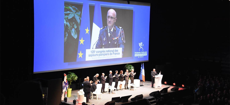 Allocution du colonel Éric Faure, président de la Fédération nationale des sapeurs-pompiers de France (FNSPF), à l'occasion de l
