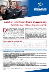 Ambition volontariat : 3 ans d'avancées - 2013