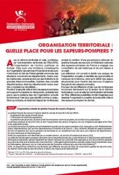 Organisation territoriale : Quelle place pour les sapeurs-pompiers ?