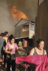 Tempête de feu au Chili