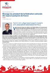Publication : Message du président de la FNSPF pour la Sainte Barbe 2018