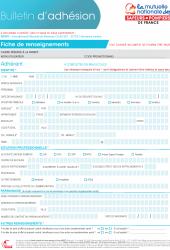 Bulletin d'adhésion surcomplémentaire santé
